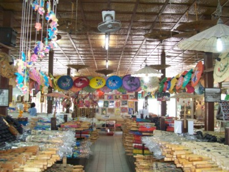 Bo Sang Handicraft Centre Is Just Outside Chiang Mai
