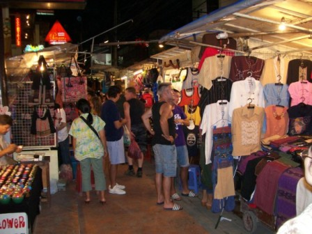 Night Bazaar Shopping in Chiang Mai, Thailand