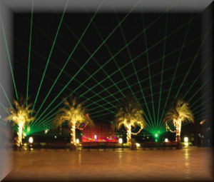 Night Safari laser fountain